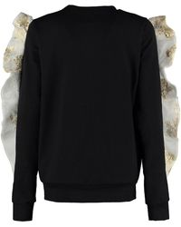 By Sun - Gold Silk Flares Sweatshirt - Lyst