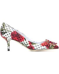 Dolce & Gabbana Belucci Embellished Brocade Pumps - Lyst