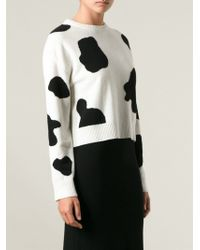 Moschino Cash Cow Cropped Sweater - Lyst