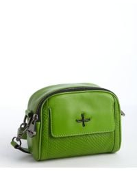 Pour La Victoire Acid Green Embossed Leather Crossbody Bag - Lyst