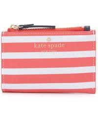 Kate Spade   Fairmount Square Cori Pouch - Geranium/cream   Lyst