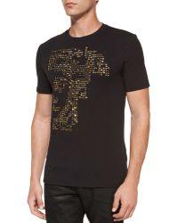 Versace Studded Medusa T-Shirt black - Lyst