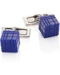 Burberry | Enamel & Stainless Steel Cube Cuff Links | Lyst