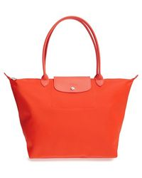 Longchamp 'Le Pliage Neo - Large' Tote orange - Lyst