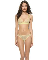 Stella McCartney Scarlett Weaving Soft Cup Bra - Pale Lemon - Lyst
