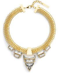 Vince Camuto - Glam Punk Chain & Baguette Necklace - Lyst
