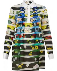 Mary Katrantzou | Beesie Pleated Shirt Dress | Lyst