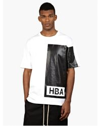 Hood By Air Men'S White Logo T-Shirt - Lyst