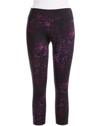 Calvin Klein Performance Patterned Active Cropped Pants - Lyst