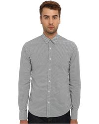 Scotch & Soda Long Sleeve Printed Button Down Shirt With Bowtie - Lyst