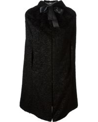 Alexander McQueen Black Hooded Cape - Lyst