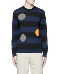 PS by Paul Smith | Dot Intarsia Cotton Sweater | Lyst