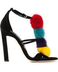 Brian Atwood Genie Pom Pom Sandals - Lyst
