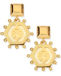 Tory Burch Caroline Drop Earrings - Lyst