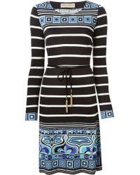 Emilio Pucci Patterned Shift Dress - Lyst