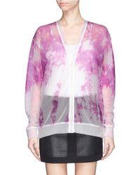 Alexander Wang Engineered Tie Dye Print Mesh Cardigan - Lyst