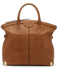 Vince Camuto Pilar Leather Tote Bag - Lyst