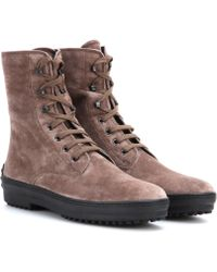 Tod's Suede Ankle Boots - Lyst