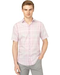 Calvin Klein Modern Fit Exploded Plaid Plainweave Sport Shirt - Lyst