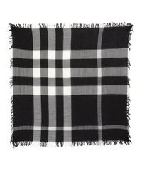 Burberry Check Square Tool Silk Scarf - Lyst
