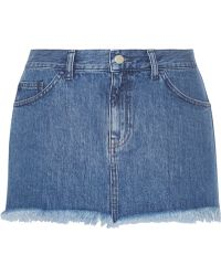 Marques'almeida For Topshop Frayed Denim Mini Skirt - Lyst