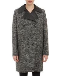 Givenchy Leatherlapel Doublebreasted Coat - Lyst