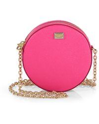 Dolce & Gabbana Round Leather Shoulder Mini Bag - Lyst