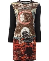 Jean Paul Gaultier Printed Bodycon Dress - Lyst