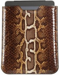 Graphic Image Ipad Sleeve In Faux Brown Python