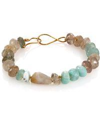 Lena Skadegard - Multicolor Opal & Rutilated Quartz Beaded Bracelet - Lyst