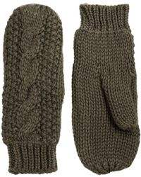 French Connection - Interlinking Cable Mittens - Lyst