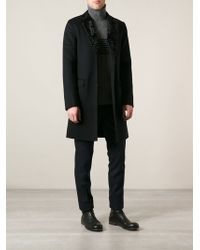 Ermanno Scervino Fur Trimmed Collar Coat - Lyst