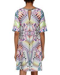 Ranna Gill - Geometric Mixed-media Shift Dress - Lyst