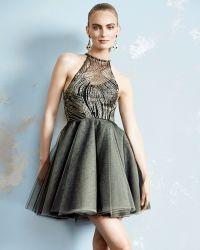 Sachin & Babi Noir La Brea Halter-Neck Cocktail Dress - Lyst