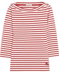 Burberry Brit - Striped Cotton-jersey Top - Lyst