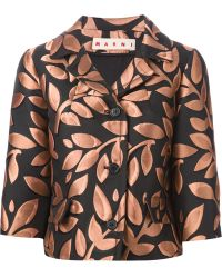 Marni Floral Embroidered Jacket - Lyst