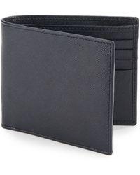 Giorgio Armani Saffiano Leather Wallet blue - Lyst