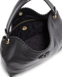 Tory Burch Marion Leather Hobo Bag - Lyst