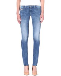 Diesel Livier Skinny Lowrise Jeans Light Washed Blue - Lyst