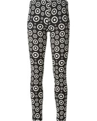 Fausto Puglisi Circle Print Trousers - Lyst