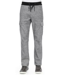 7 For All Mankind Melange Relaxed Knit Cargo Pants - Lyst