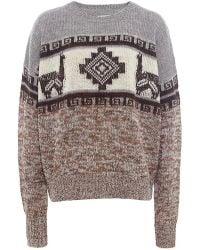 Isabel Marant Remington Intarsia Sweater - Lyst