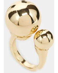 Asos Double Bead Ring gold - Lyst