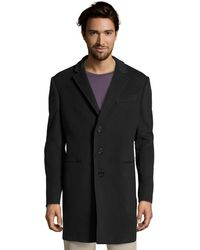 Armani Navy Virgin Wool-Cashmere 'T Line' 3-Button Over Coat - Lyst