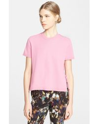 Valentino Lace Back Short Sleeve Tee - Lyst