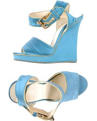 Balmain Sandals blue - Lyst