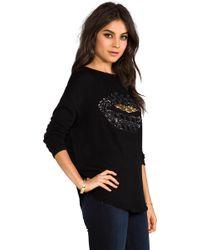 Dolce Vita - Dv By Greyer Lips Sweater in Black - Lyst