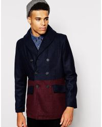 Native Youth Contrast Peacoat - Lyst