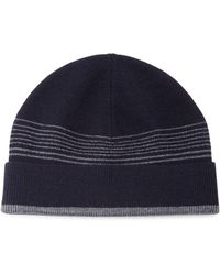Theory - Striped Wool Beanie Hat - Lyst