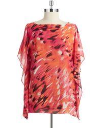 Calvin Klein Patterned Kimono Top - Lyst